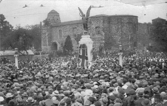 Unveiling of Colchester's war memorial