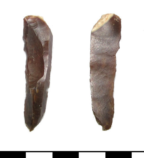 Earlier Upper Palaeolithic backed piece bladelet recorded by the Portable Antiquities Scheme